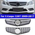 Двухдверный гриль для Mercedes-Benz E-class Coupe C207 2009-2017 E-Coupe Diamond GT AMG, автомобильный вертикальный стержень, Стайлинг автомобиля, средняя решетка