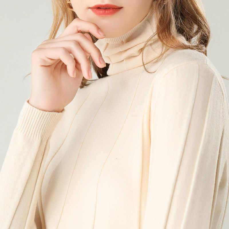 ฤดูใบไม้ร่วงฤดูหนาวใหม่ผู้หญิงเสื้อคอเต่าแขนยาวถักPulloverสั้นวรรคเสื้อป่า