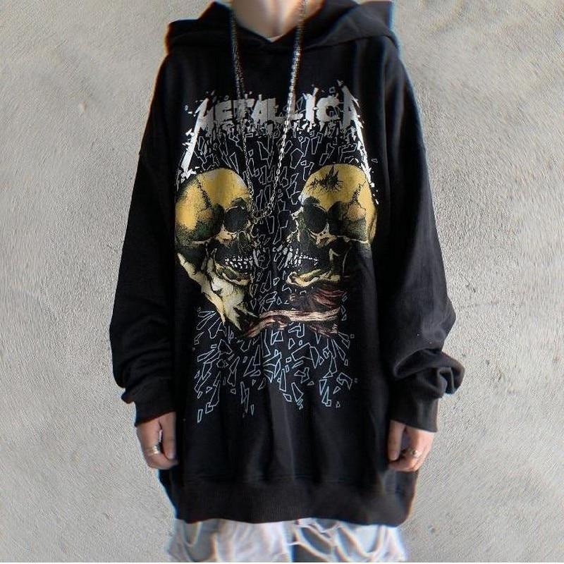 NiceMix Hoodie Women Sweatshirts Autumn Couples Hip Hop Female Hoodies Streetwear Punk Devil Print Top Loose Oversized Pullover