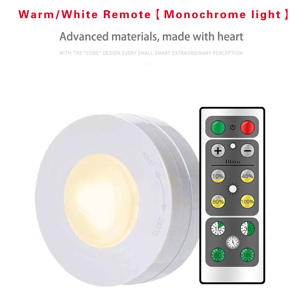White Light / Warm White Children's Bedroom Eye Protection Small Lamp Battery Remote Control Cabinet Lights Pat Light Night Ligh