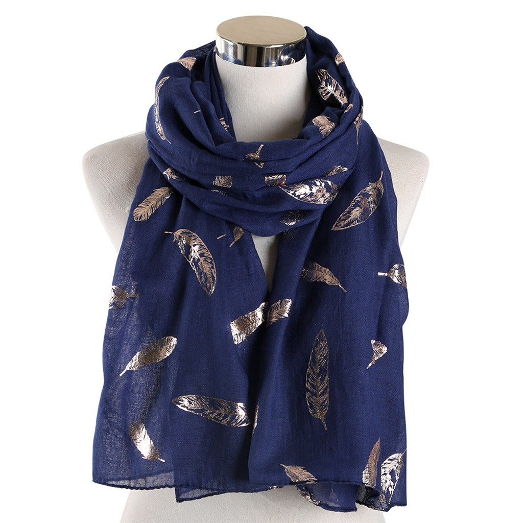 Silk Chiffon Scarf Female Brand Leaves Hot Silver Design Long Various Color Options Scarves Beach Shawls Women #YJ