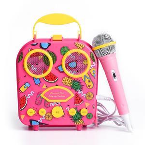 Crianças karaoke máquina bluetooth cantando alto-falante com microfone