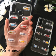 3D Cute Capsule Pills Person Phone Case For Huawei