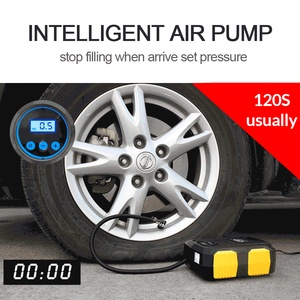 Image 4 - E ACE רכב צמיג מתנפח משאבת אוויר מדחס אוטומטי משאבת אוויר לרכב אופנוע 12V דיגיטלי צמיג Inflator 150 PSI