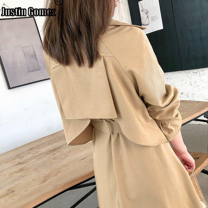 Горячая Талия темперамент женская ветровка большого размера двойная грудь верхняя одежда осенний Свободный плащ женский режим Femme длинное пальто