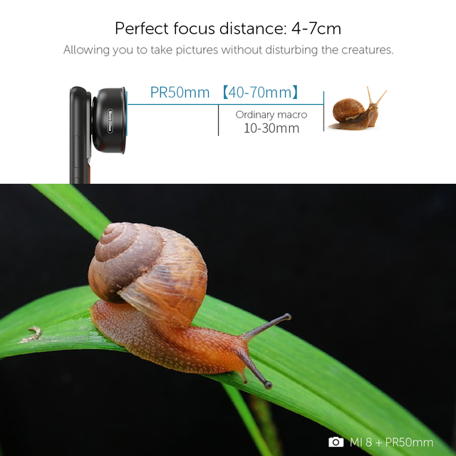 APEXEL HD optic camera phone lens 50mm super macro lens  with 17mm thread phone case for iPhonex xs max Samsung s9 all smartphon 3