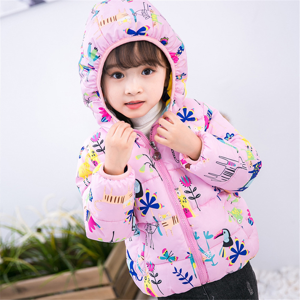 LILIGIRL Winter Baby Girl Boys Clothes Cotton padded Jackets for Kids Coats Thick warm Overalls Hooded Child Outerwear Clothing in Jackets Coats from Mother Kids