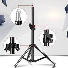 68 Cm/27 Inch Fotografie Mini Tafel 1/4 Schroef Head Light Stand Statief Voor Foto Studio Ring Licht Led lamp Reflector Softbox