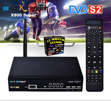 Satxtrem X800 Super HD Ccam Satellite Receiver With MT7601 Wifi USB DVB S2 1080P Receptor TV Tuner Receiver Azamerica Spain(China)