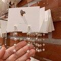 2020 neue Koreanische version von künstliche perle lange quaste anhänger ohrringe süße und einfache weibliche anhänger hochzeit geschenk ohrringe