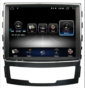 2Din Multimedia Android 10 Player for SSANGYONG KORANDO 2010-2013 Radio Stereo GPS Navi FM AM RD WIFI image
