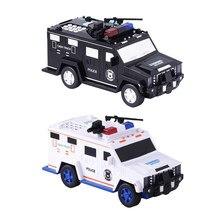 Mealheiro caixa de dinheiro com luz música grande armadura carro brinquedo caixa de poupança de dinheiro