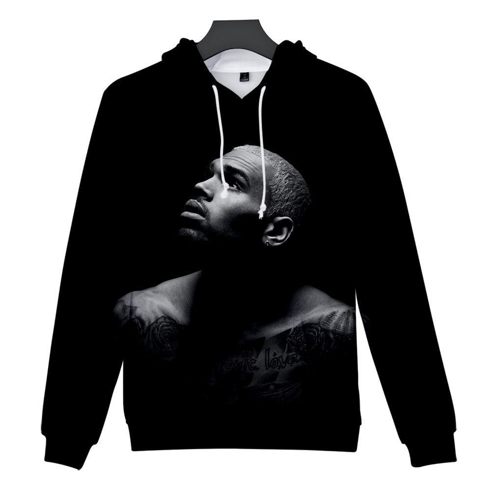 Chris Brown 3D Print Hoodies Royalty Breezy Hoody Fashion Hip Hop Long Sleeve Sweatshirt Chris Brown Hoodies Streetwear Pullover