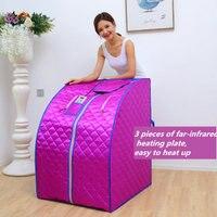 Abeto infravermelho sauna perda de peso íon negativo desintoxicação terapia pessoal portátil sauna sala dobrável cadeira cabine sauna aquecedor