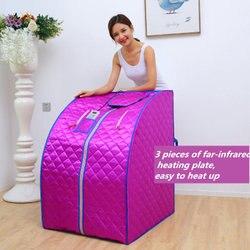 Fir podczerwieni Sauna utrata masy ciała jonów ujemnych Detox Therapy osobiste przenośne Sauna składane krzesło kabina pokój podgrzewacz do sauny w Sauny od Majsterkowanie na