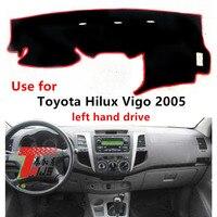 Taijs linksgestuurde dashboard cover voor Toyota Hilux Vigo 2005 beschermende dacron auto dashboard mat tapijt voor hilux vigo