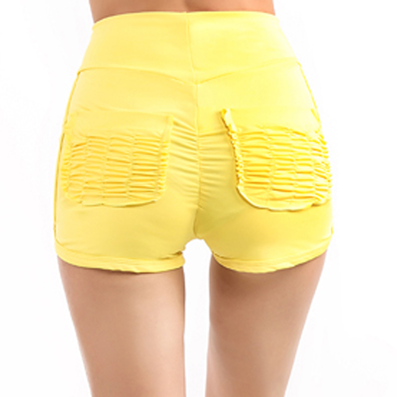 Женские летние шорты, однотонные, плиссированные, с карманами, на бедрах, повседневные шорты, сексуальные, для похудения, высокая талия, для