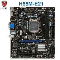 MSI H55M-E21 마더 보드 인텔 H55 LGA 1156 DDR3 8GB DDR3 1600 코어 i7/코어 i5/코어 i3 데스크탑 H55 Mainbaord DDR3 1156