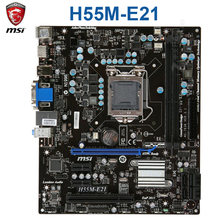 Msi H55M-E21 placa-mãe intel h55 lga 1156 ddr3 8gb, ddr3 1600 core i7/core i5/core i3 desktop h55 mainbacomputador ddr3 1156,(China)