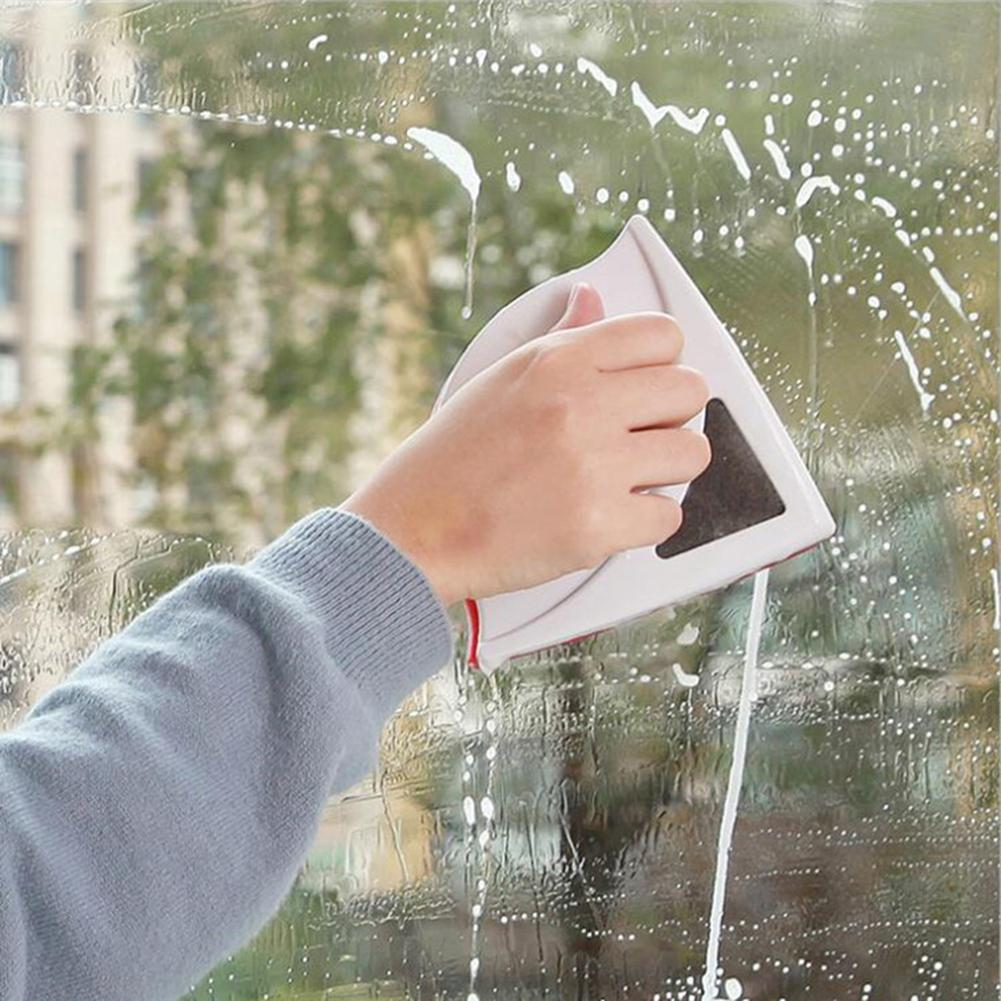 Double Sided Magnetic Glass Wipe Brush Household Window Wiper Glass Cleaner For Washing Windows Glass Cleaning Brushes