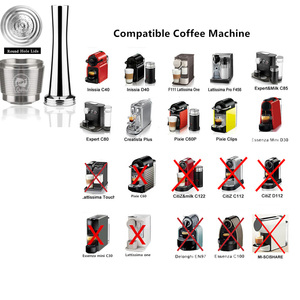 Image 4 - iCafilas Refillable Coffee Capsules Reusable Pods Compatible With Nespresso Inissia capsula nespresso reutilizable