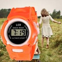 Мода и Прочный Детский Повседневный Электронный Часы Детские Удобные Силикон Спорт Симпатичные Часы TC21