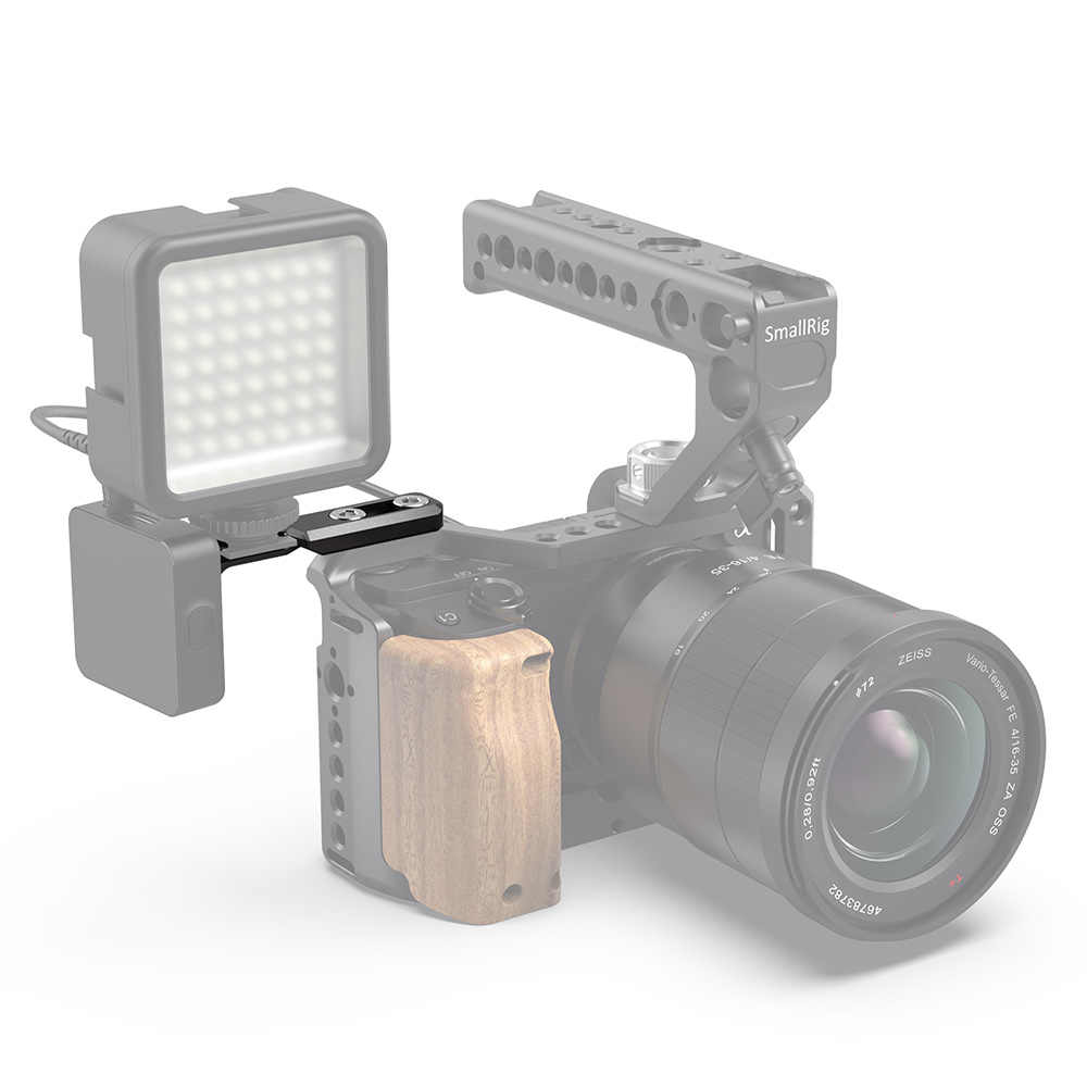Płyta przedłużająca SmallRig Dual Cold Shoe do ramka do kamery Dslr płyta montażowa do zimnego buta do montażu mikrofonu/Led/Light DIY Option-2881