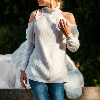 Ailegogo Women Pullovers Sweater New 2019 Knitting Autumn Winter Sexy Off the Shoulder Casual Streetwear Ladies Tops SW9009 1