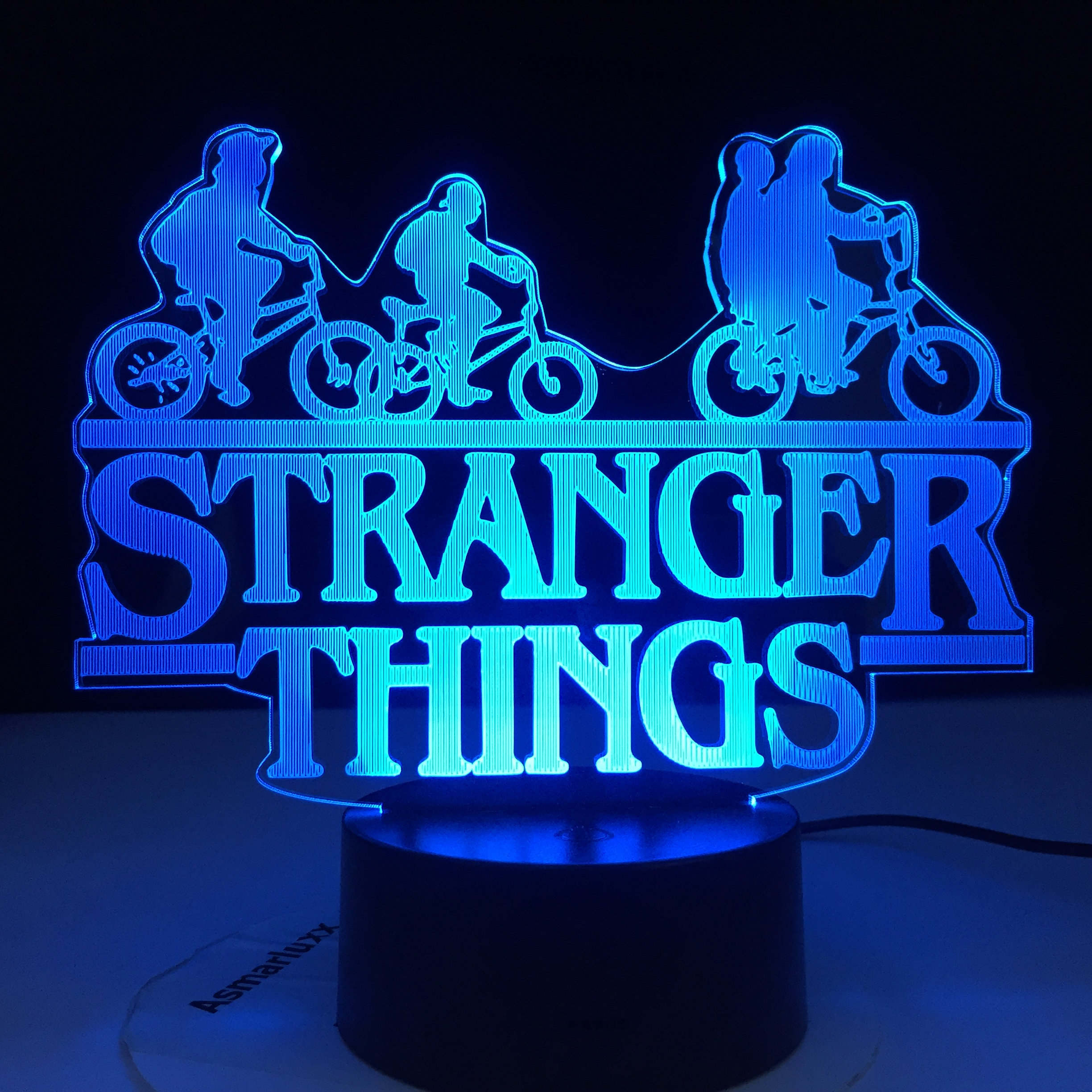 Stranger Things American Web TV Series Led Night Light 7 Colors Changing Touch Sensor Bedroom Nightlight Table Lamp Best Gift image