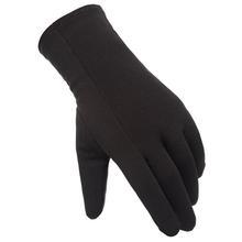 Nowe gorące na każdą pogodę zewnętrzne rękawiczki do obsługiwania ekranów dotykowych podszyty polarem wiatroszczelne antypoślizgowe ciepłe zimowe rękawice sportowe YAA99 tanie tanio Swokii Poliester Nylon Dla dorosłych Stałe Elbow Moda Outdoor