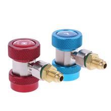 2 pièces R134A H / L adaptateurs raccord rapide climatiseur liquide de refroidissement réglable