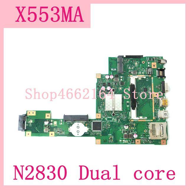 X553MA_MB_N2830CPU Laptop Moederbord REV2.0 Voor Asus F503M X553MA X503M X553M F553M A553M X503M Notebook Moederbord Getest Ok