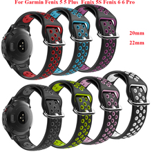 22 20mm Silicone Quick Release Watchband Wriststrap for Garmin Fenix 5 6 Pro 5S S60 Watch Easyfit Wrist Band