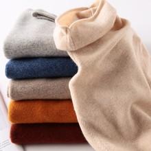 2020 jesień 100 czystego kaszmiru wełny kobiet sweter zimowe ubrania kobieta z długim rękawem golfem odzież ponadgabarytowych dzianiny tanie tanio NINGBAOYR CASHMERE Z wełny wool Komputery dzianiny Stałe REGULAR Osób w wieku 18-35 lat Swetry Pełna NONE Grube Brak