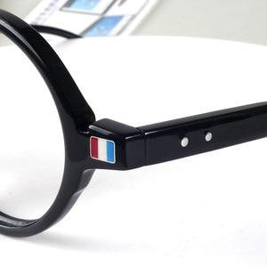 Image 5 - Round designer reading glasses men women anti reflective anti radiation acetate black