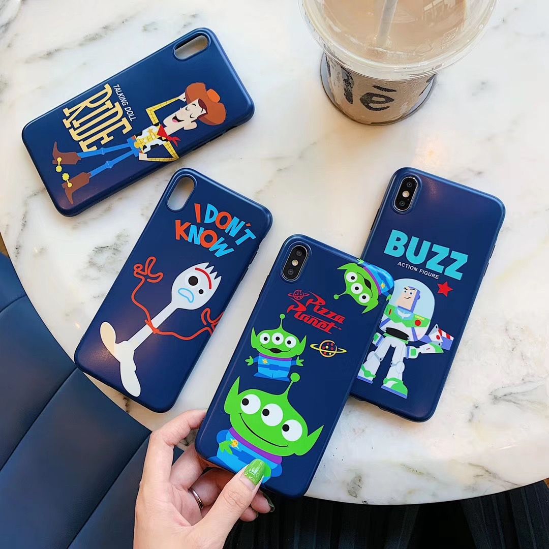Cute Cartoon <font><b>Toy</b></font> <font><b>Story</b></font> Buzz Lightyear Phone Case For <font><b>iphone</b></font> Xs MAX XR X <font><b>6</b></font> 6s 7 8 plus Fun pattern glossy silicone <font><b>Capa</b></font> image