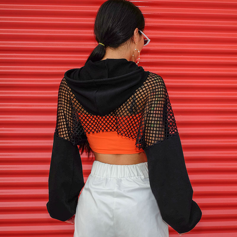 Black Crop Top Sweatshirts