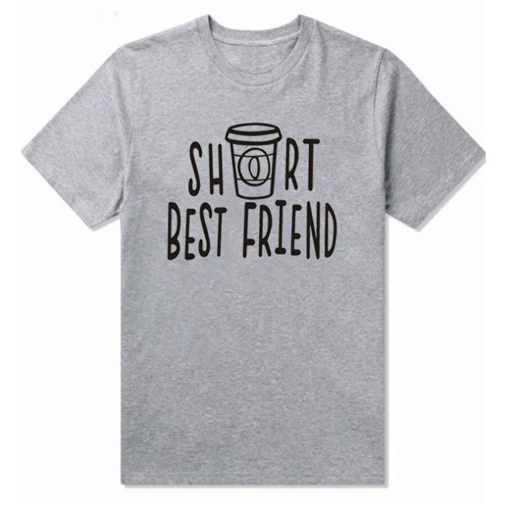 Women Best Friend Letter Print Short Sleeve O Neck Tee Top Casual Sister T-Shirt