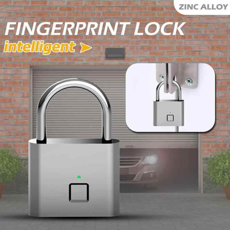 2019 золотой замок безопасности без ключа отпечатков пальцев Умный Замок USB Перезаряжаемый дверной замок для дверного ящика чемодан чип для двери багажа