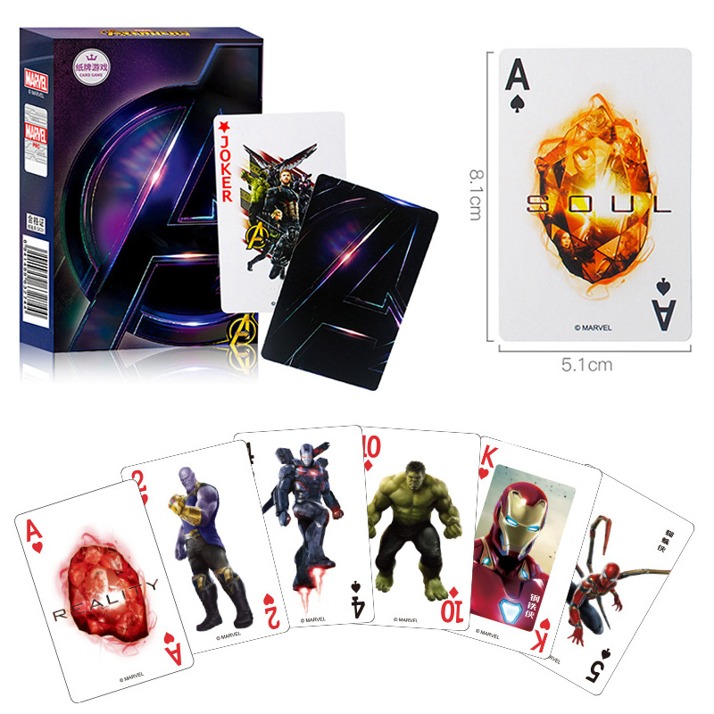 Marvel Avengers Super Heros Endgame Thanos Spider-Man Hulk Iron Man Captain Thor Thor Wolverine Playing Cards Collection Toys