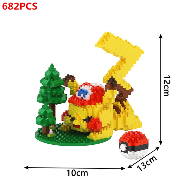 DIY mini ideas Anime Pokemon Detective Pikachu Elf ball Building Blocks Model Sets Bricks Classic Movie For Children Toys Gift 2