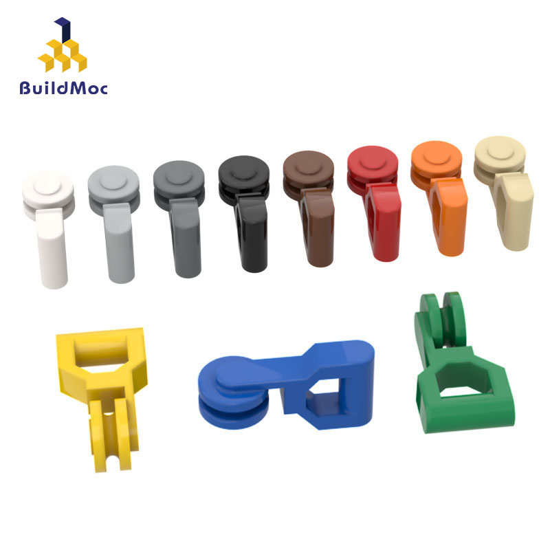 BuildMOC Compatible Assembles Particles 30229 Handheld Pulley Building Blocks Parts DIY LOGO Educational Tech Parts Toys