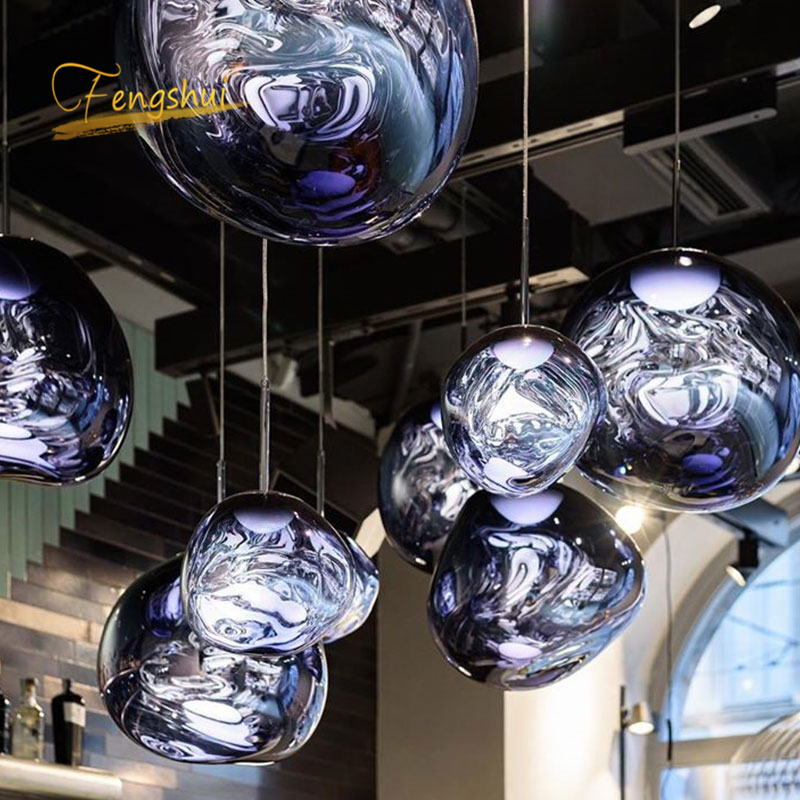 Modern LOFT Design LED Pendant Lights LOFT Coffee Glass Pendant Lamp Study Kitchen Fixtures Villa Duplex Apartment Hanging Lamp