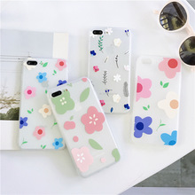 Ultra-thin transparent phone case for iPhone X XS XR XSMax 8 7 6 6S PluS matte flower soft shell drop protection cover