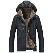 Chaqueta de piel para hombre, chaqueta de invierno informal, negro cálido, marrón, de talla grande, con solapa, larga, 2019