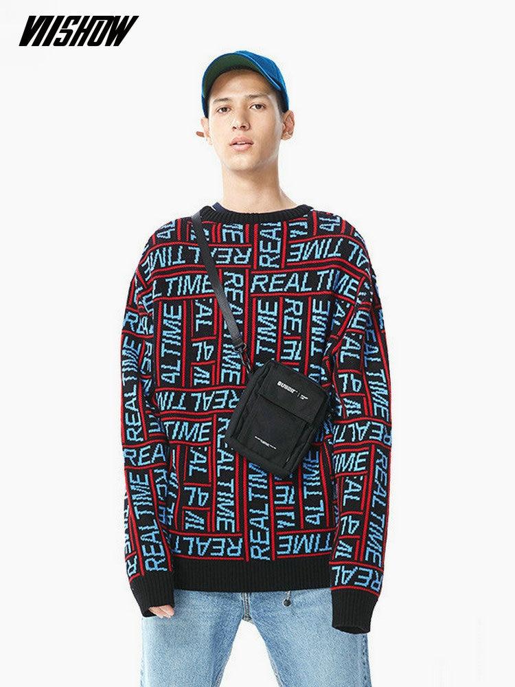 VIISHOW Streetwear Men's Sweater Brand Pullover Men Sweater 2018 New Pull Homme Cotton Warm Sweater Men Sueter Hombre ZC2318183