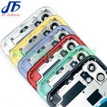 10 sztuk OEM zamiennik dla iPhone 11 Pro Max 11Pro tylna szklana rama środkowa obudowa pełna obudowa montaż pokrywa baterii drzwi