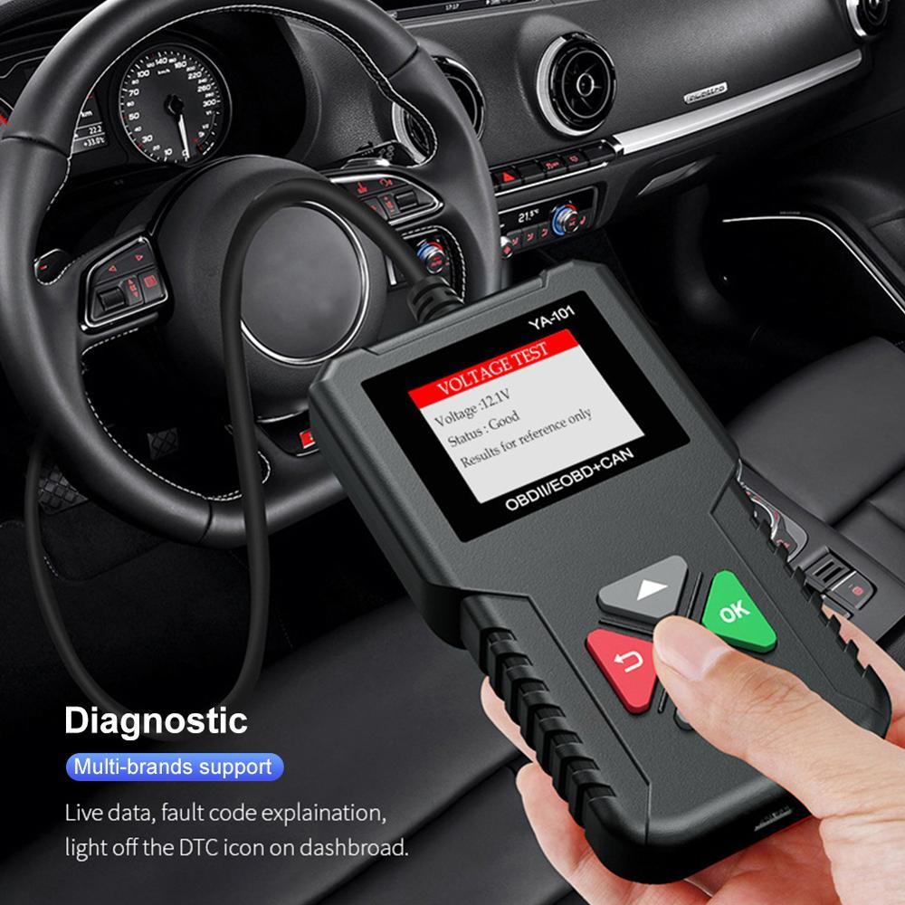 Obd2 Scanner Obd Code Reader Car Check Engine Fault Diagnostic Tool Car Battery Tester Obd Ii/eobd Car Diagnostic Scanner