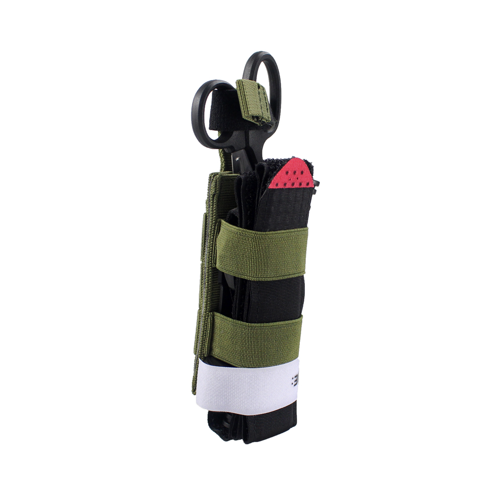 Molle Tourniquet Pouch Holder TQ Pull Elastic Tab Emergency Tactical Medical Bag Tourniquet Storage Bag