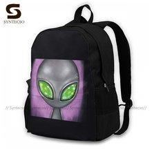 Alien Backpacks Breathable Fun Polyester Backpack Picnic Teen Bags